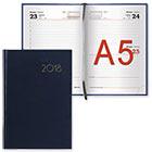 Ежедневник датированный на 2018 год А5 138х213 мм 168 листов Brauberg Select искусственная кожа синий